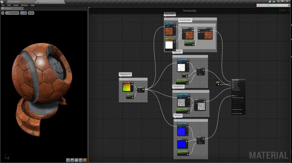 Imagen del Curso de Creación de Materiales en Unreal Engine 4