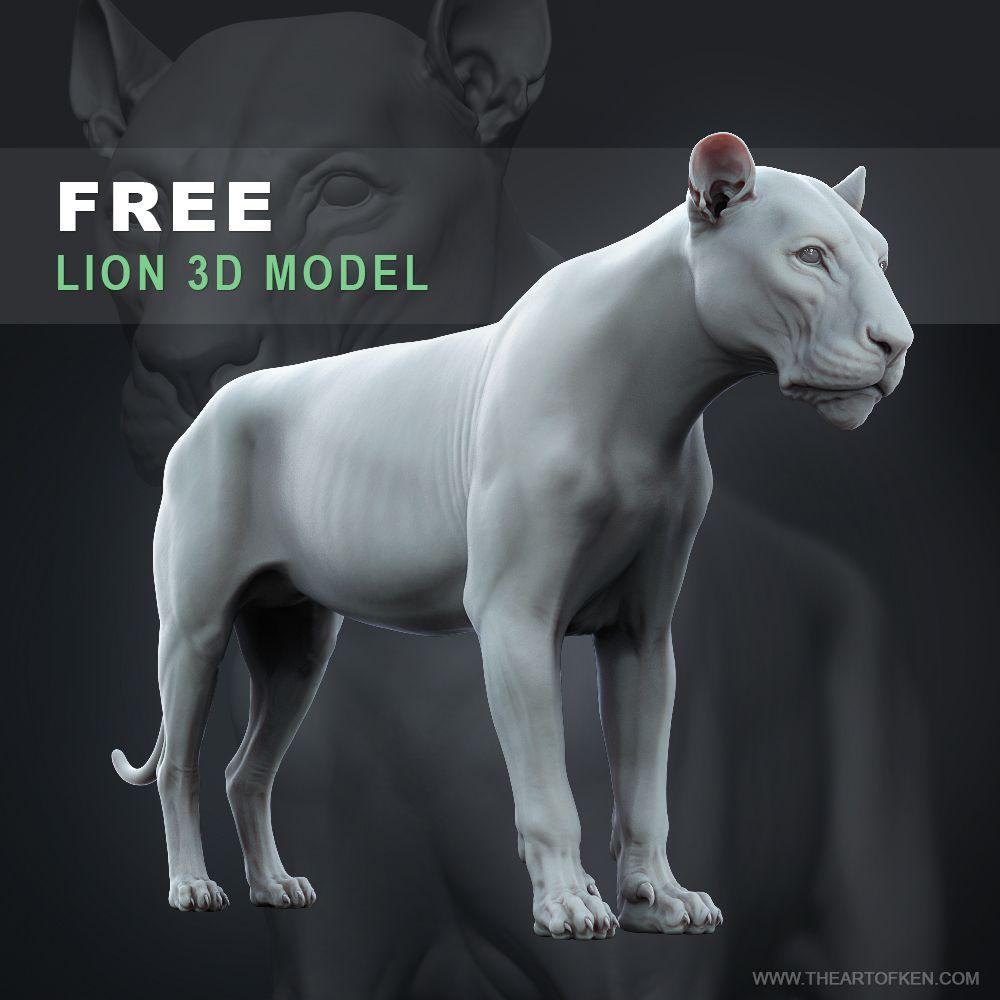 Modelo 3D Leon Gratuito