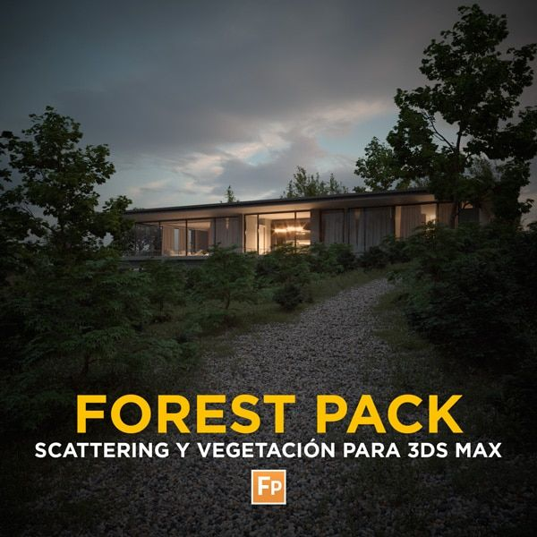 Forest Pack Scattering y Vegetación 3Ds Max