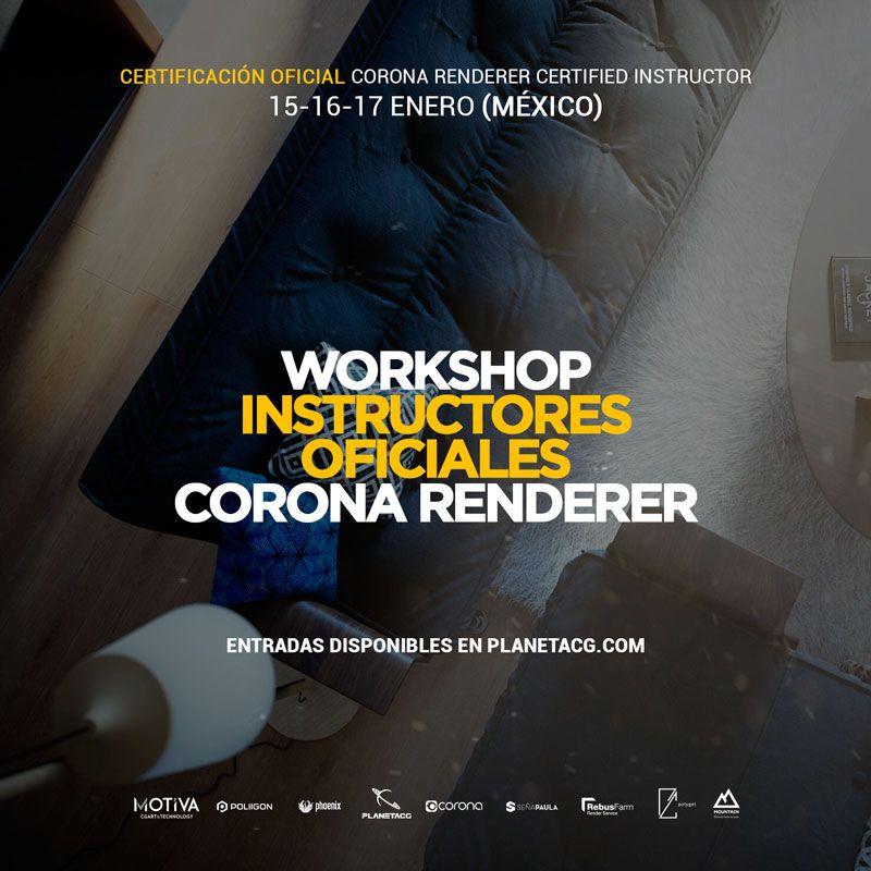 Worskhop Instructores Corona Renderer Oficial